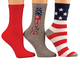 Americana Socks, Set of 3, One Size