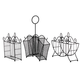 3 Piece Metal Serving Caddy Table Organizer Set