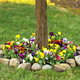 Flower Mat, Perfect Pansies 17