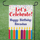 Personalized Lets Celebrate Garden Flag