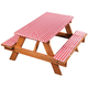 Deluxe Picnic Table Cover with Cushions, One Size