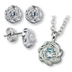 Cubic Zirconia Flower Necklace & Earring Set