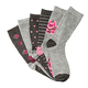 Floral Trouser Socks, set of 6 Pair, One Size