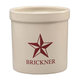 Personalized Red Barn Star Ceramic Crock, 2 qt, One Size
