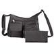 Machine Washable Handbag and Wallet Black, One Size