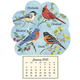 Mini Magnetic Calendar Songbirds, One Size