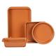 Copper Ceramic 4 PC Value Bakeware Set, One Size