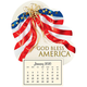 Mini Magnetic Calendar Patriotic, One Size