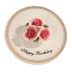 Porcelain Happy Birthday Candle Holder, One Size