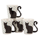 Cat Tail Mugs by Home Style Kitchen, Set of 4