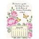 Mini Magnetic Calendar Pretty Butterflies, One Size