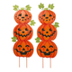 Jack-O-Lantern Metal Stakes Set of 2 by Fox River Creations™, One Size