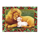 Lion and The Lamb Christmas Card Set of 20 No Personalization