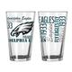 NFL Set/2 Pint Glasses, One Size