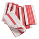 Big & Thirsty Red Stripe Kitchen Towels Set/6, One Size
