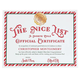 Personalized Santa Nice List Certificate, One Size
