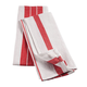 Big & Thirsty Red Stripe Kitchen Towels Set/2, One Size