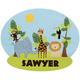 Personalized Zoo Decor Cling