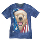 Patriotic Golden Pup T- Shirt, One Size