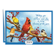 Personalized Songbird Calendar Card Set of 20 Card and Envelope Personalization