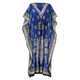 Blue Mosaic Drawstring Caftan, One Size