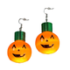 Giant Pumpkins Lighted Earrings, One Size