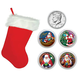 Santa Coin Collection in Christmas Stocking, One Size
