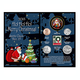 2018 Santa Greeting Coin and Stamp Card, One Size