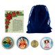Christmas Angel Coins in Blue Pouch, One Size