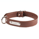 Personalized Brown Dog Collar, One Size