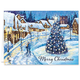Christmas Glow Christmas Card Set of 20 Card and Envelope Personalization
