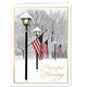 Patriotic Lamppost Christmas Card Set of 20 No Personalization