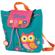 Personalized Stephen Joseph Owl Quilted Backpack, One Size