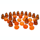 Acrylic Pumpkin Table Scatters Set 30, One Size