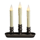 Battery-Operated LED Triple Window Candle, One Size