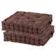 Chocolate Tufted Booster Cushion Set of 2, One Size