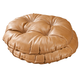 Camel Faux Leather Tufted Bar Stool Cushion Set of 2, One Size