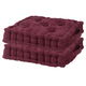 Burgundy Tufted Booster Cushion Set of 2, One Size