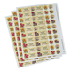 Personalized Floral Labels & Seals 60, One Size