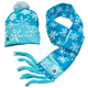Lighted Snowflake Hat & Scarf Set of 2, One Size