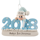 Personalized 2018 Baby's First Christmas Ornament, One Size