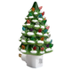 Green Snow-Capped Ceramic Tree Night Light, One Size