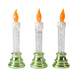 LED Glitter Candles, Set of 3, One Size