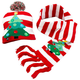 Lighted Christmas Tree Hat & Scarf Set of 2, One Size