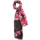 Black Floral Fashion Scarf, One Size