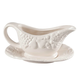 Fruit Embossed Gravy Boat & Saucer, One Size