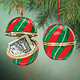 Christmas Striped Trinket Box Ornament