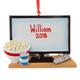 Personalized TV & Popcorn Ornament, One Size