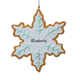 Personalized Snowflake Cookie Ornament, One Size