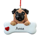 Personalized Pug Ornament, One Size